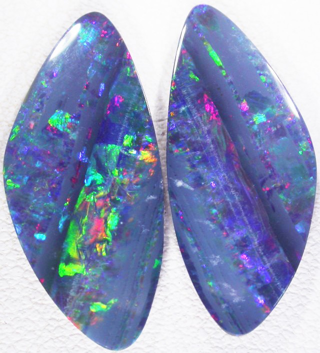 8.40 CTS A GRADE  DOUBLET  OPAL PAIR [SO5508]