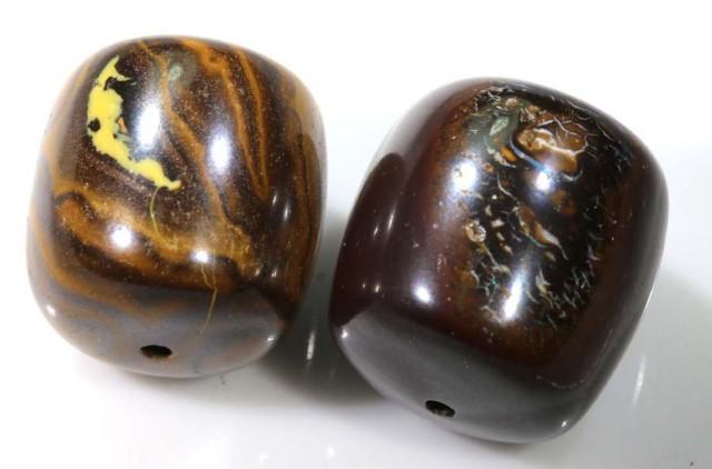 66.40 CTS YOWAH OPAL BEADS PARCEL (2PCS) LO-3440