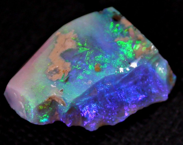 9.9 CT RUBBED LIGHTNING RIDGE OPAL [RZ12]