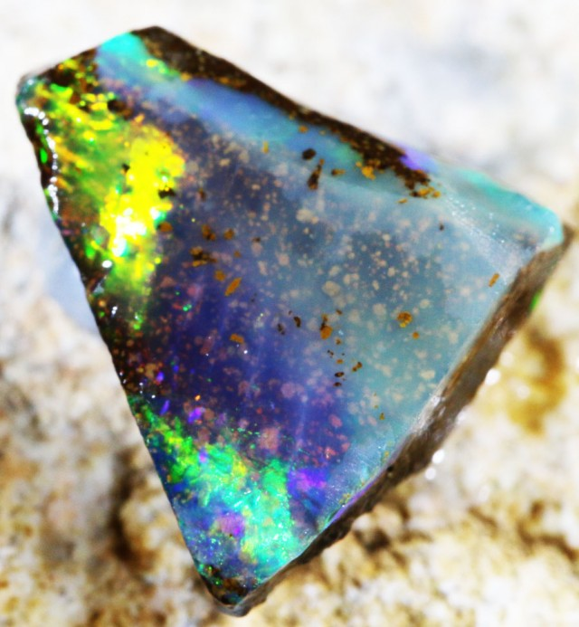 3.15 CTS  BOULDER OPAL ROUGH -PRE SHAPED-OLD STOCK [BY4634 ]