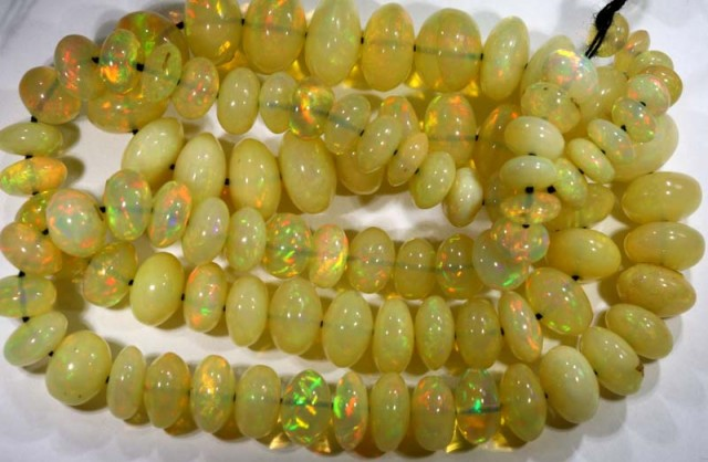95  CTS   ETHIOPIAN OPAL BEADS DRILLED    FOB-241