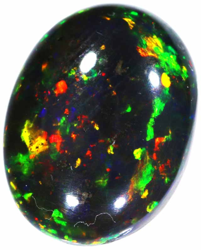 5.85 CTS  N1 STUNNING  BLACK   CRYSTAL OPAL - CHECK OUT THE VIDEO!- [SOSH10
