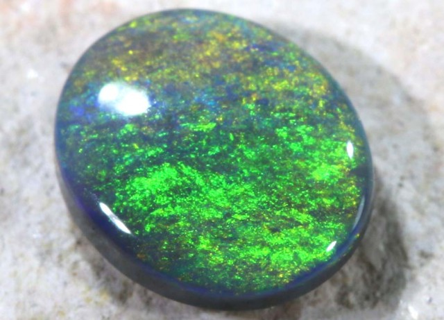 N-3 0.50 CTS Solid Black Opal Lightning Ridge ANO-106