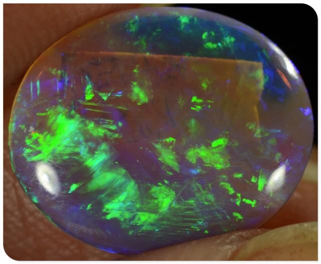 2.35ct Crystal Opal - ID:20170 Top Brightness gem gold/green colours