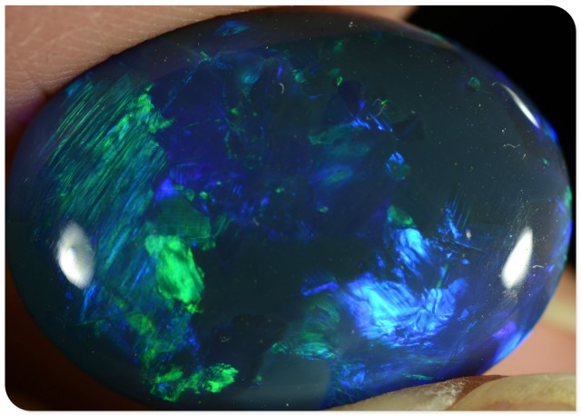 BIG 11.85ct Black Opal - ID:20123 RARE and unique GEM