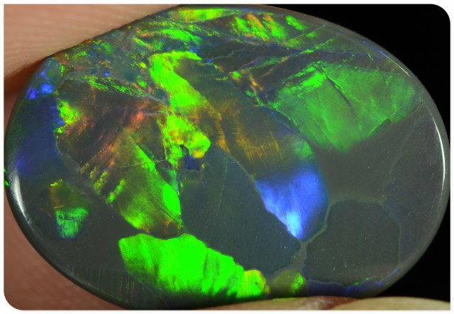 2.20ct Black Opal - ID:20006 Peakcock tail Rare Pattern with all colours