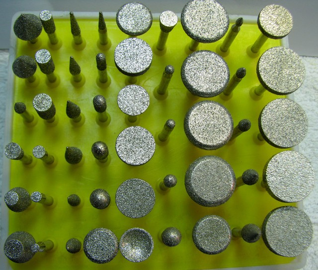50 PIECE LARGE HEADS DIAMOND BURR SET , THIS IS ALL YOU NEED