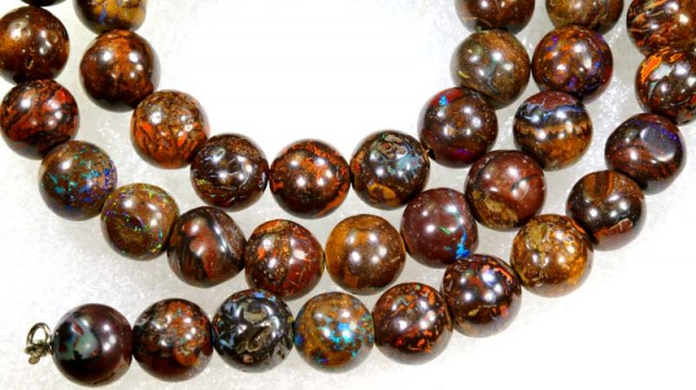 220 CTS BOULDER OPAL BEADS STRANDS TBO-4193