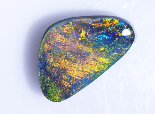 3.95 Cts Multi fire  Black Opal BU1171