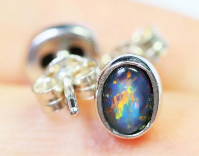 Cute Triplet Silver Earring  BU 1234