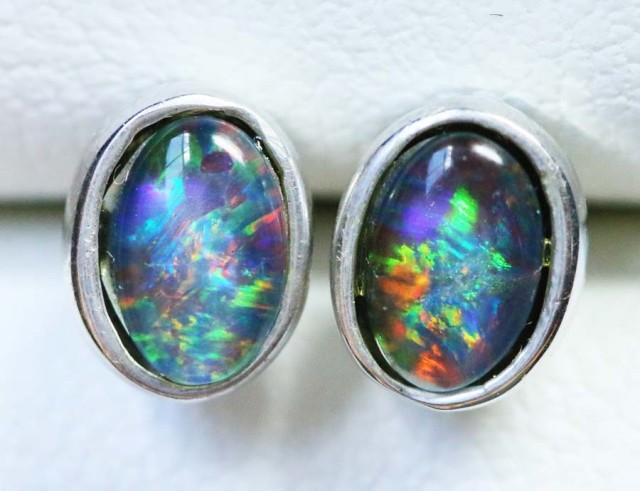 Cute Triplet Silver Earring  BU 1235