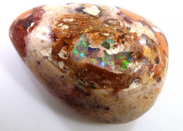 9.95 CTS MEXICAN FIRE OPAL MATRIX CAB LO-3623