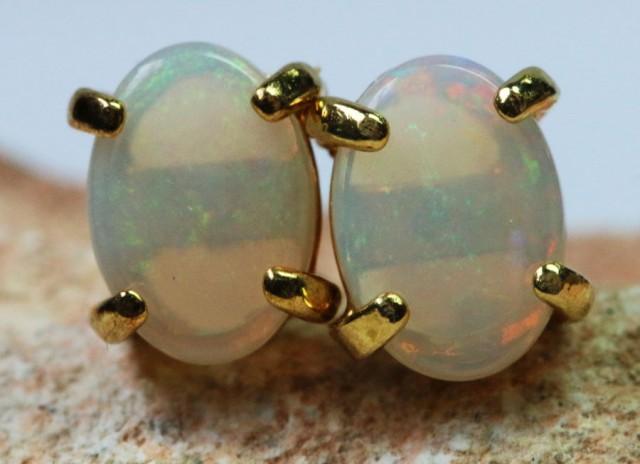 Solid Opal set in  G/P Earrings BU1337