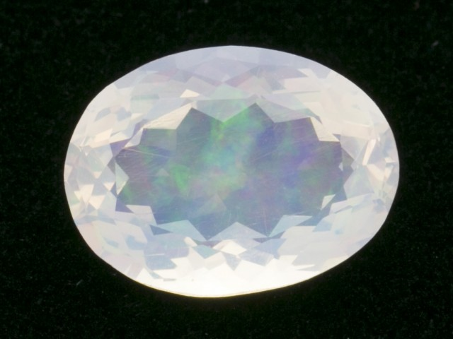 7.9ct Clear Faceted Oval Mexican Jelly Opal (MO323)