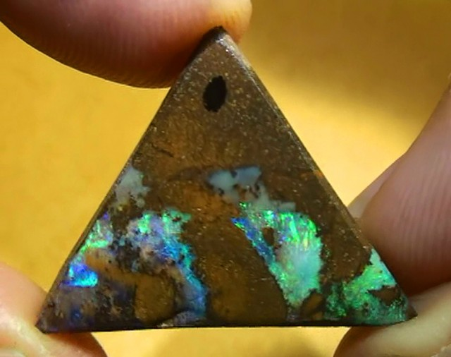 13.20 ct Gem Color Australian Boulder Opal Pendant Set