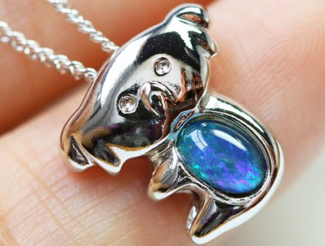 Cute Triplet opal in silver Pendant  BU1458