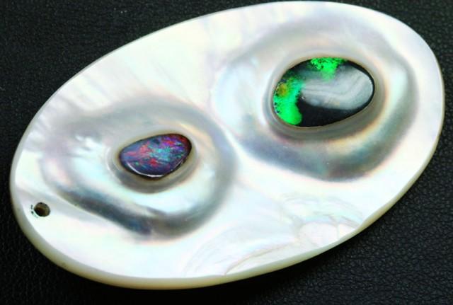 64.9 carats stunning boulder opal in pearl  BU 1464