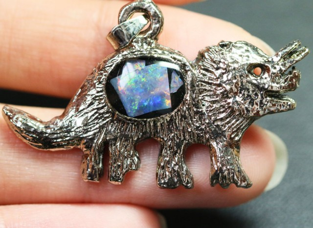 5 Pieces Cute Dinosaur Opal pendants BU1468