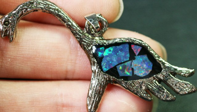 5 Pieces Cute Dinosaur Opal pendants BU1478