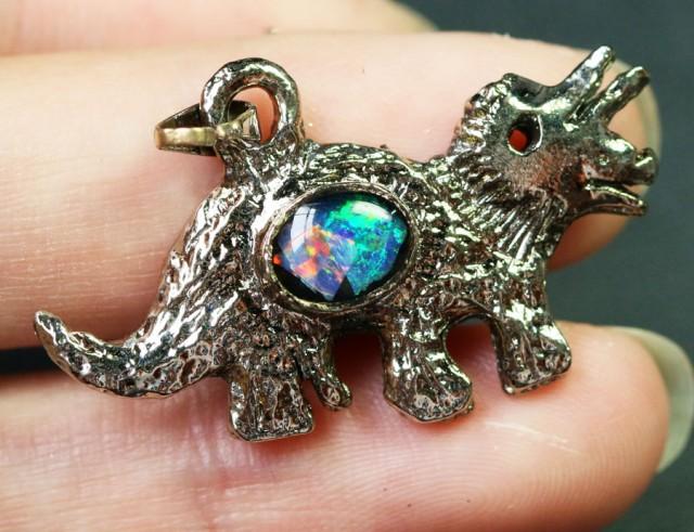 5 Pieces Cute Dinosaur Opal pendants BU1479