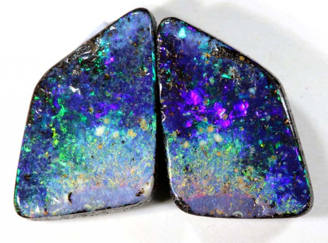 4.5 CTS BOULDER OPAL POLISHED STONE PAIR INV-215 R