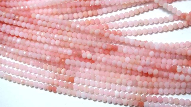 22 CTS PINK FACETED OPAL BEADS TBO-4391