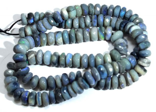 104 CTS BLACK OPAL FACETED BEADS TBO-4408