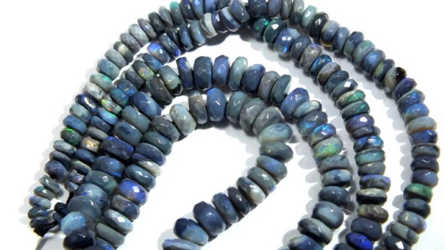 45.80 CTS BLACK OPAL FACETED BEADS TBO-4409