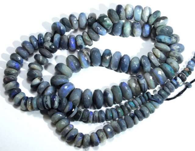 89 CTS BLACK OPAL FACETED BEADS TBO-4410