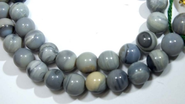 202 CTS BLACK OPAL BEADS NECKLACE TBO-4446