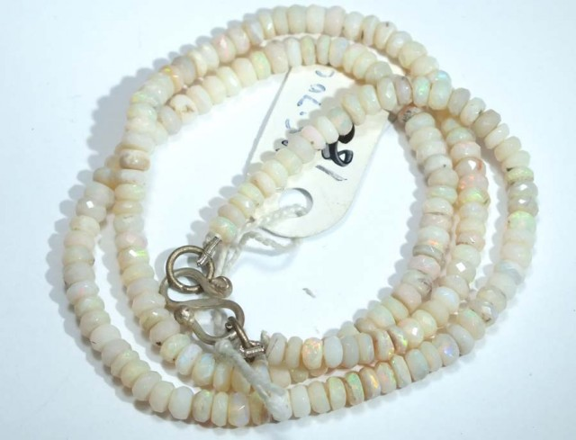 45.80 CTS COOBER PEDY WHITE OPALBEADS TBO-4456