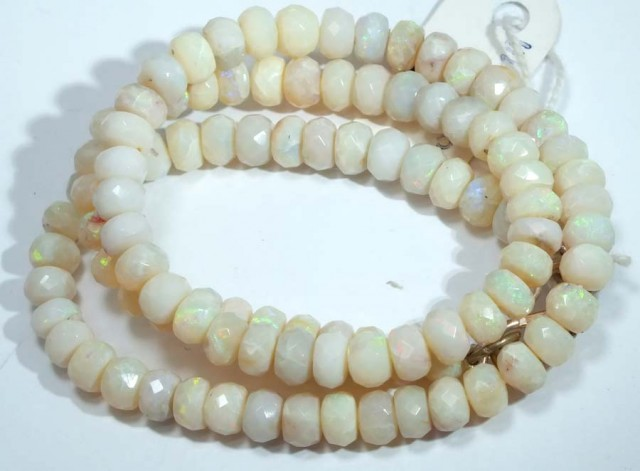 92.50 CTS COOBER PEDY WHITE OPALBEADS TBO-4457