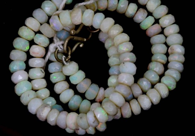 77.40 CTS COOBER PEDY WHITE OPALBEADS TBO-4463