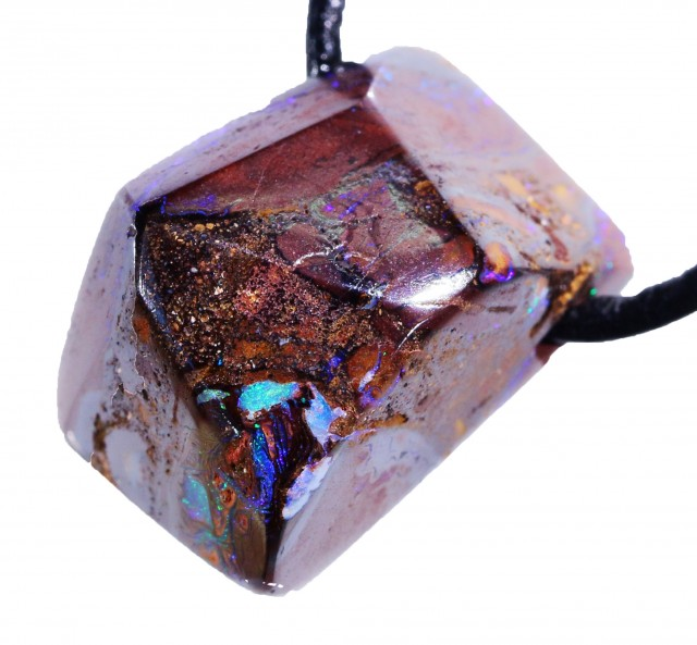 35.15 CTS YOWAH OPAL BEAD FACETED WITH  STRAP [SO6692 ]