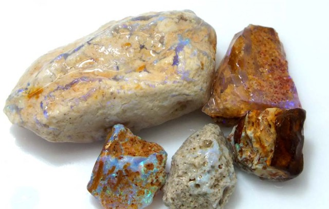 25 CTS OPAL FOSSIL WOOD PARCEL FO-635