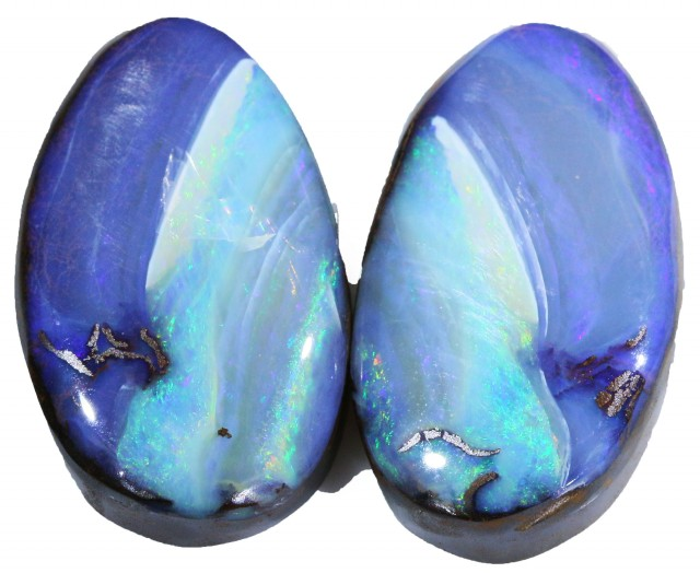 43.45 CTS BOULDER OPAL PAIR -WELL POLISHED [SH103 ]