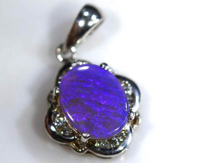 9.60 CTS SILVER OPAL PENDANT OF-1345