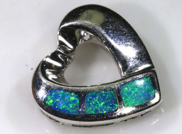 7 CTS SILVER DOUBLET OPAL PENDANT OF-1368