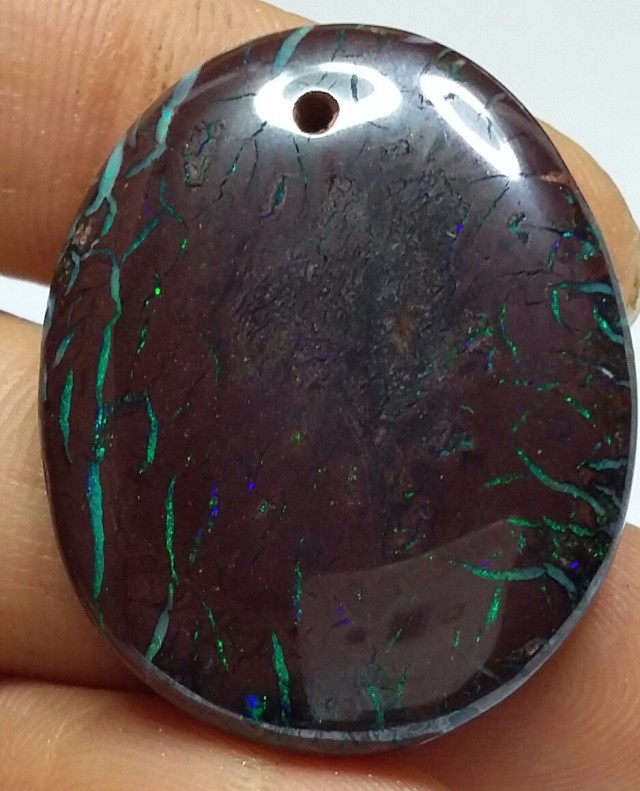 DRILLED KOROIT BOULDER OPAL     CT   SS00121