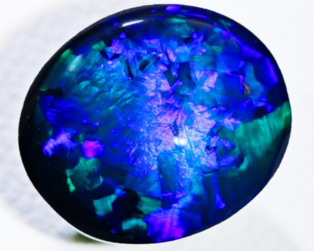 3.05 CTS QUALITY BLACK OPAL-BLUE  -N1 [Q2281]SH