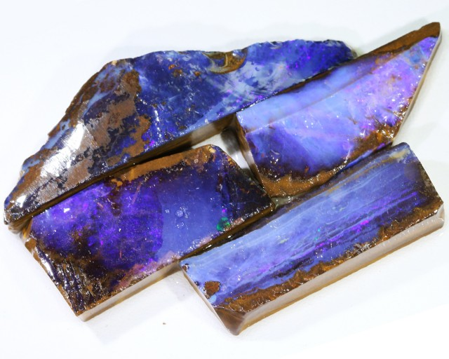 129.60 CTS BLUE  BOULDER OPAL ROUGH  PARCEL - [BY4669 ]