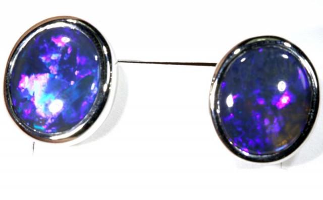 22.90 CTS BLACK OPAL EARRINGS INV-296 gc