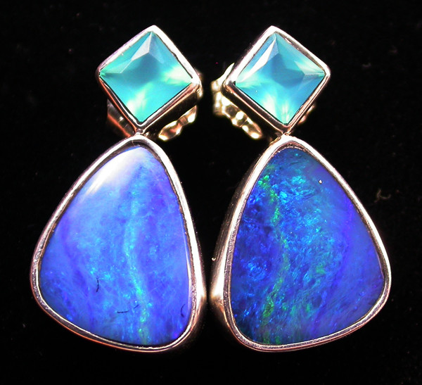 19.10 CTS DOUBLET OPAL/CHAL EARRING-FACTORY DIRECT [SJ2175]