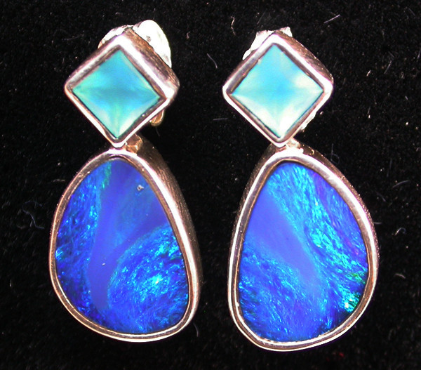 18.80 CTS DOUBLET OPAL/CHAL EARRING-FACTORY DIRECT [SJ2179]