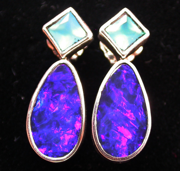 17.10 CTS DOUBLET OPAL/CHAL EARRING-FACTORY DIRECT [SJ21.80]