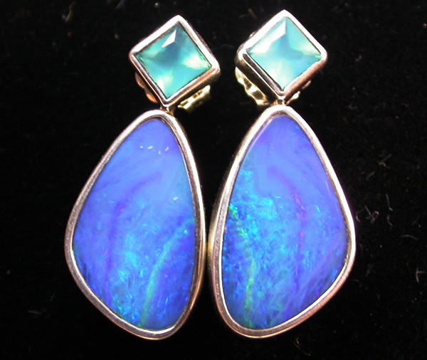 23.60 CTS DOUBLET OPAL/CHAL EARRING-FACTORY DIRECT [SJ2181]