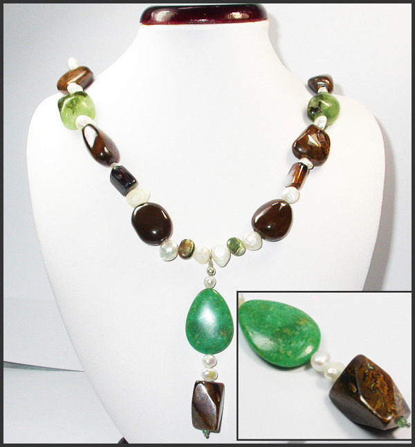 950.40 CTS CHUNKY BOULDER AND GEMSTONE NECKLACE SJ2002