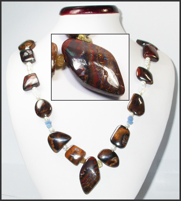 754.00 CTS CHUNKY BOULDER AND GEMSTONE NECKLACE SJ2003