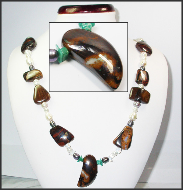 617.20 CTS CHUNKY BOULDER AND GEMSTONE NECKLACE SJ2004