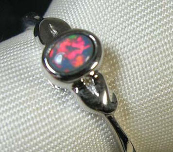 Doublet Opal 925 Silver Ring Size-7 #R40